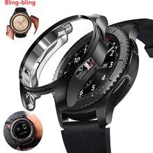 Чехол для samsung Galaxy Watch 46 мм 42 мм/gear S3 frontier, мягкий бампер, аксессуары для умных часов, защитный чехол со стразами