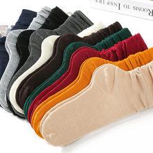 Носки женские длинные до щиколотки, однотонные до колена, из чистого хлопка, в студенческом стиле, яркие цвета s
