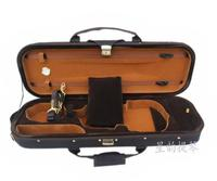 High-grade coffee edging waterproof and light portable double strap violin piano box package 1/4  2/4  3/4  4/4