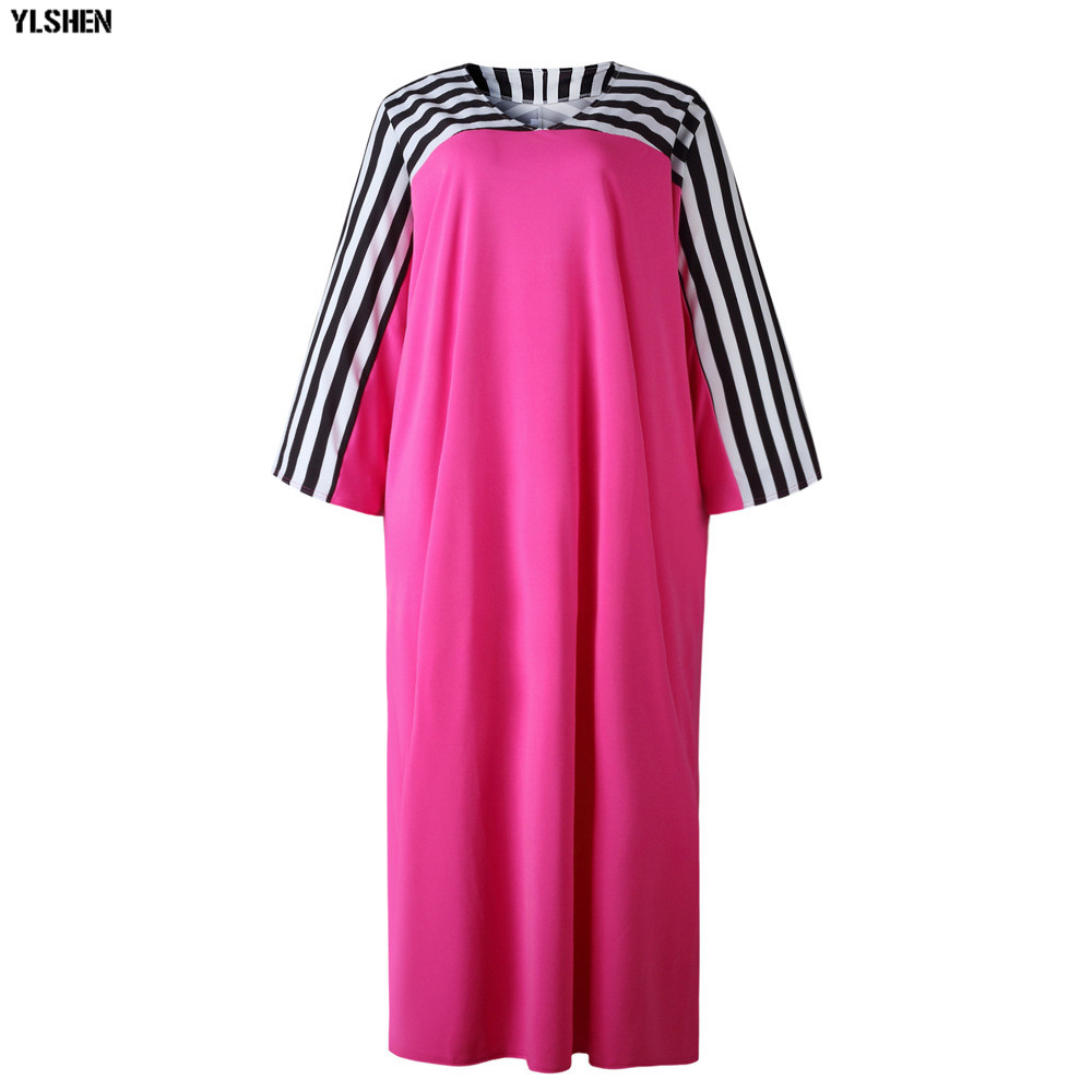 Super Size African Dresses for Women Dashiki Stripe African Clothes New Bazin Riche Sexy V-neck Long Africa Dress Woman Clothing 22