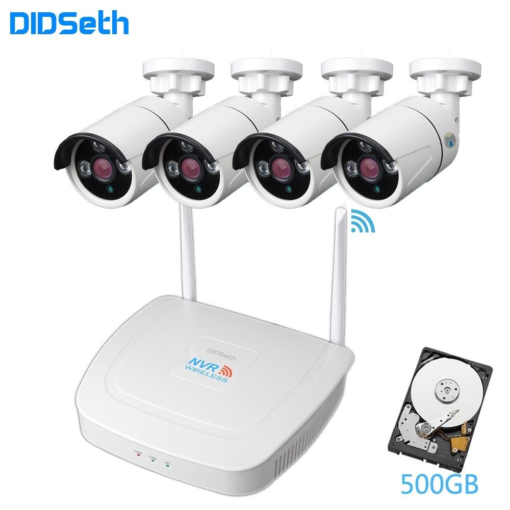 DIDSeth 4CH 1080P sans fil sécurité NVR Kits Wifi NVR avec 4 pièces 2.0MP intérieur extérieur vision nocturne sans fil caméras IP Kit de vidéosurveillance