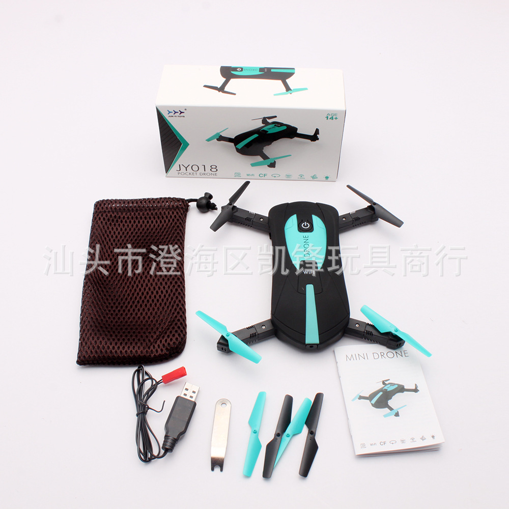 Jy018 WiFi Set High Drone For Aerial Photography Selfie Pocket Mini Folding Quadcopter Remote Control Aircraft