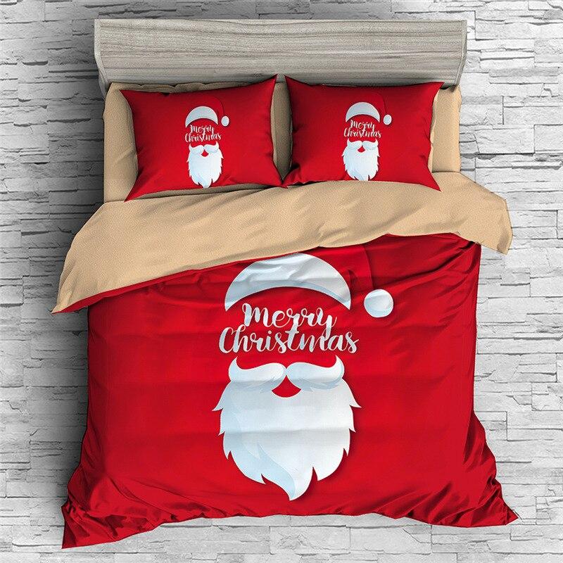 3D Cartoon Christmas Duvet Cover Sets Elk Pattern King Size Bedding Set Single Double Queen Kid Gift Bed Linens 2/3pc Bedclothes