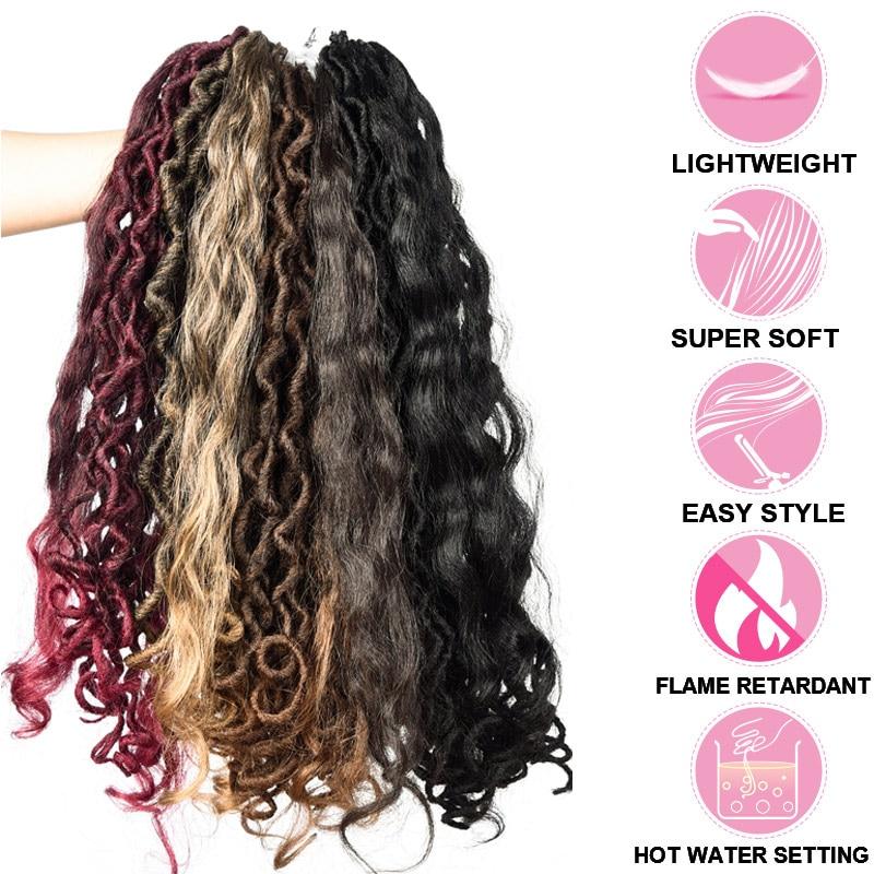 'PromoteHair Braiding-Hair Crochet Faux-Locs Dreads Curl-Ends Handmade Synthetic Women 18inch[