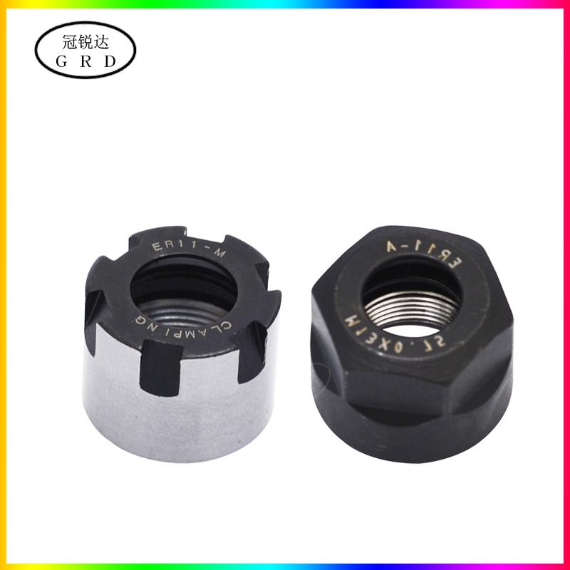 2pcs ER11A Type Collet Clamping Nut For ER Collet Milling CNC Chuck Holders C#
