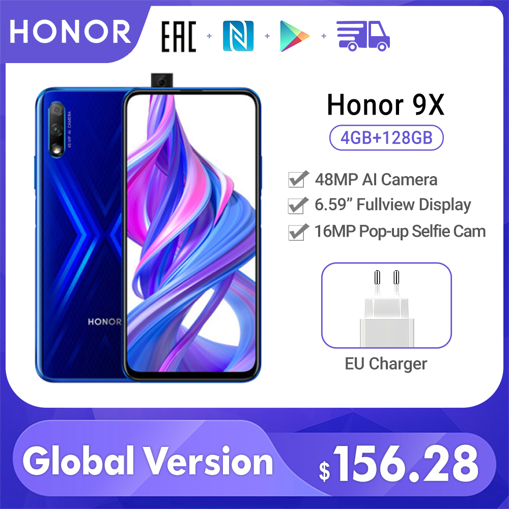 "Special Version Honor 9X Smartphone 4G 128G 48MP Dual Cam 6.59"" Mobile Phone Android 9 4000mAh OTA Google Play cellphone"