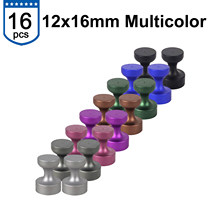 F Magnet Push Pins D12 - Strong Magnetic Scratch Free, Matte Surface Long Lasting Aluminum Housing Use for Fridge