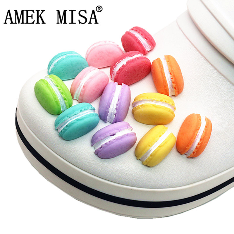 Re-ment Macaron Shoe Decoration Mini Resin Safety Non-toxic Garden Shoe Accessory Charms Fit Croc Jibz Kid's Party X-mas Gift