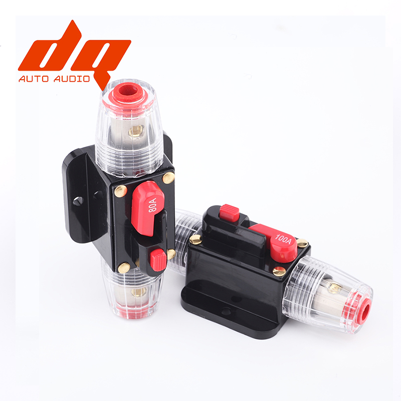 100A 50A 60A 80A 150A 12V 24 Car Truck Audio Amplifier Circuit Breaker Fuse Holder AGU Style Stereo Amplifier Refit Fuse Adapter