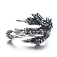 FDLK       Punk Dragon Claws Open Finger Wedding Ring Zinc Alloy Rings for Men Accessories Jewelry Halloween Ring