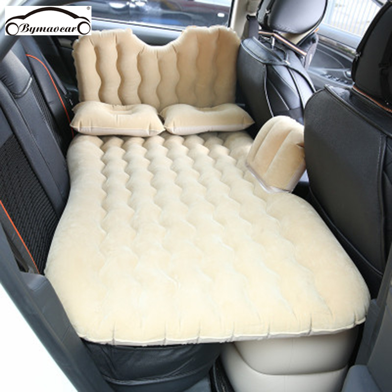 Bymaocar Car inflatable bed  Multifunctional travel bed 900 1350 mm  car mattress PVC  flocking car bed car accessories