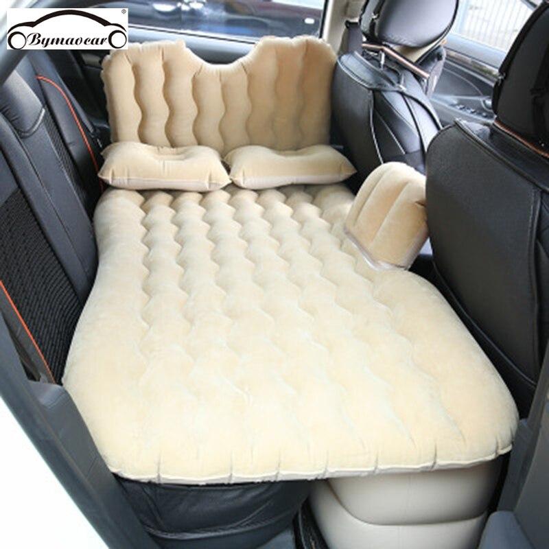 Bymaocar carro cama inflável multifuncional viagem cama 900*1350(mm) colchão do carro pvc + reunindo carro cama acessórios do carro