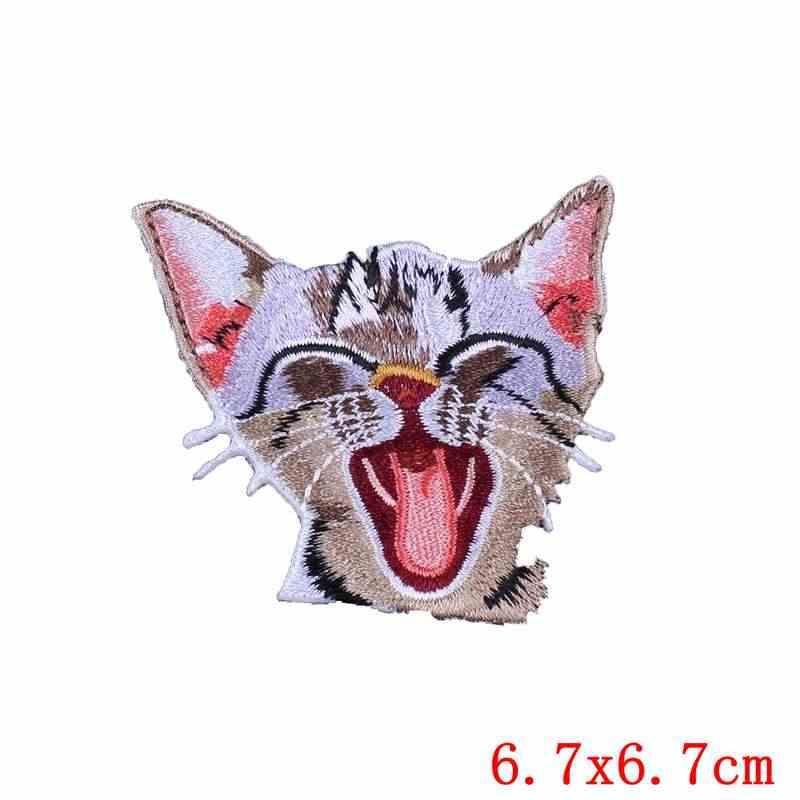Patches Auf Kleidung Cartoon Katze Aufkleber Nähen Auf Abzeichen Dekoration Qualität Nette Rucksack Bekleidung Kleidungsstück Aufkleber Eisen Auf Patches