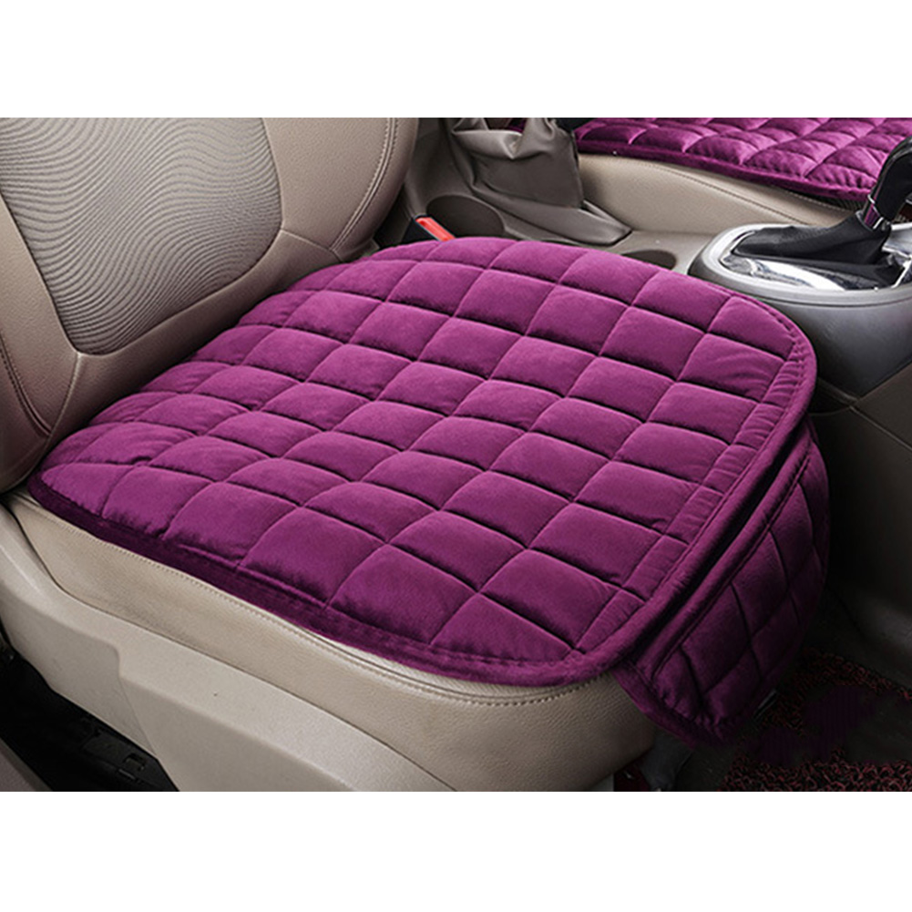 Image 2 - Car Front Rear Universal Seat Cover Winter Warm Black Seat Cushion Anti Slip Rear Back Chair Seat Pad For Vehicle Auto Protector-in Automobiles Seat Covers from Automobiles & Motorcycles