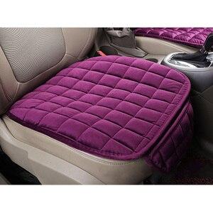 Image 2 - Housse de siège universelle avant de voiture hiver coussin de siège noir chaud anti dérapant arrière chaise de siège pour véhicule Auto protecteur
