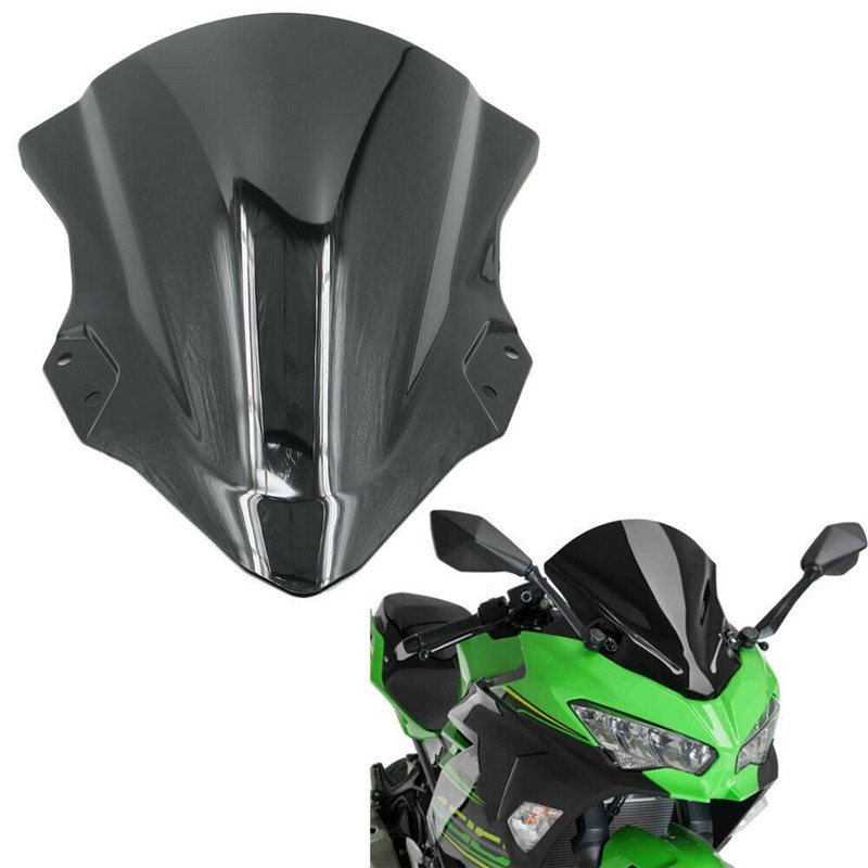 Motorcycle Wind Shield Windshield Windscreen Deflector For Kawasaki Ninja 250 400 Ninja250 Ninja400 2018 High Quality ABS Black