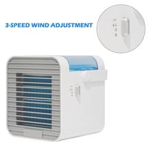 Mini Car Air Cooler Fan Air Humidifier USB Rechargeable Purify Air ABS PC Air Conditioning Fan Home LED Atmosphere Light multifunction rechargeable fan support porwer bank humidifier portable air fans for home mini ventilador air conditioning 2000ma