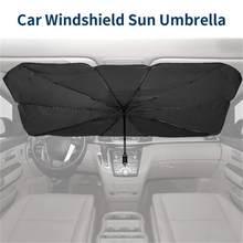 Parasol interior para parabrisas de coche, protector o autocubierta para luna delantera del vehículo, accesorio de protección solar para ventana