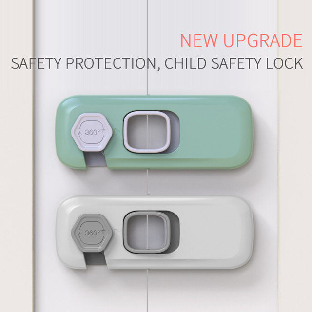 5pcs Child Safety Cabinet Lock Baby Anti-theft Protector To Prevent Babies From Opening The Door At Will Plastic Safety Lock 2