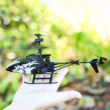 Wireless Remote Control Alloy Aircraft Helicopter Toy Children Plane Toys Nti-Collision 2 Channels RC Toy Kids Birthday Gift 3