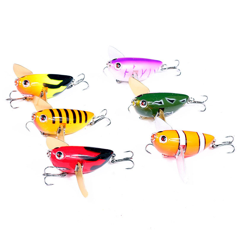 4PCS Fishing Minnow lure Baits casting trolling Lures artificial hook 9.5cm//13g