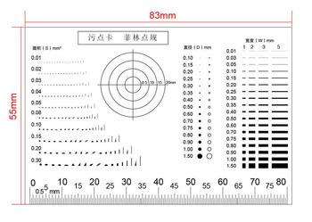 Przenośny miernik punktu filmowego wysoka przejrzystość PET miękka plama karta mikrometr kalibracja zasada dla średnicy obszaru pomiar szerokości tanie i dobre opinie JUNLAI 500X i Pod PORTABLE Mikroskop stereoskopowy Monokularowy Film Point Gauge