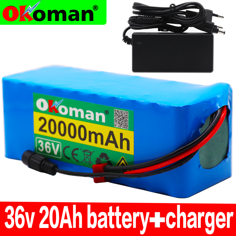 36V battery 10S4P 20Ah battery pack 500W high power battery 42V 20000mAh Ebike electric bicycle BMS+42v charger