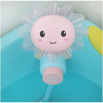 Prysznic dziecięcy zabawki do kąpieli słodki słoń konewka zabawki dziecko kran zabawka na wodę do wanny typ koła Dabbling zabawki dla dziecka tanie i dobre opinie 3 lat Baby Bath Spray Faucet Other