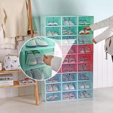 Dustproof Transparent Drawer Shoes Case Stackable Sundries Box Shoe Rack Storage Organizer