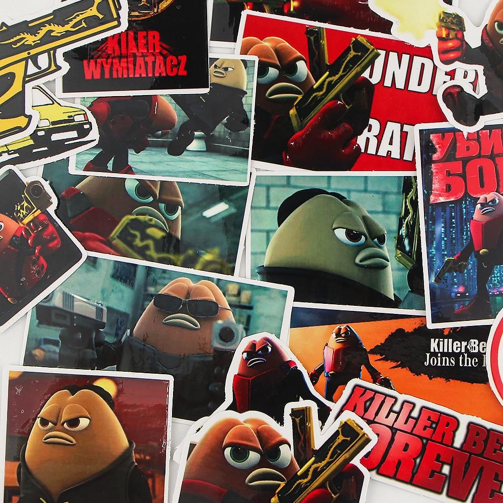 20Set BH1470 Blinghero 18pcs/set Cartoon Cute Killer Stickers Aesthetic Laptop Sticker Pack  Sticker for Phone Case