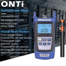 ONTi kit de herramientas de fibra óptica conector FC/SC, fuente de medidor láser de potencia óptica VFL OPM y localizador Visual de fallos 1/10/20/30mW 5 30km