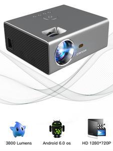 CRENOVA 2019 новые светодиодные фары ближнего света проектор HD 1280*720P Android 6.0OS 3800 люмен Домашний кинотеатр кино проекторов на базе Android с Wi-Fi и Bluetooth
