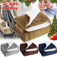 Zimowy koc do sypialni ekstra ciepły gruby puszysty miękki na świąteczny prezent DC156 w Narzuty od Dom i ogród na