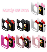 KIT TY CAT Watch Cover Case For Apple Watch 6/4/5/3/2/1 40MM 44MM Lovely Cute Protect Silicone Cases For Iwatch Series 4 5/3/2/1