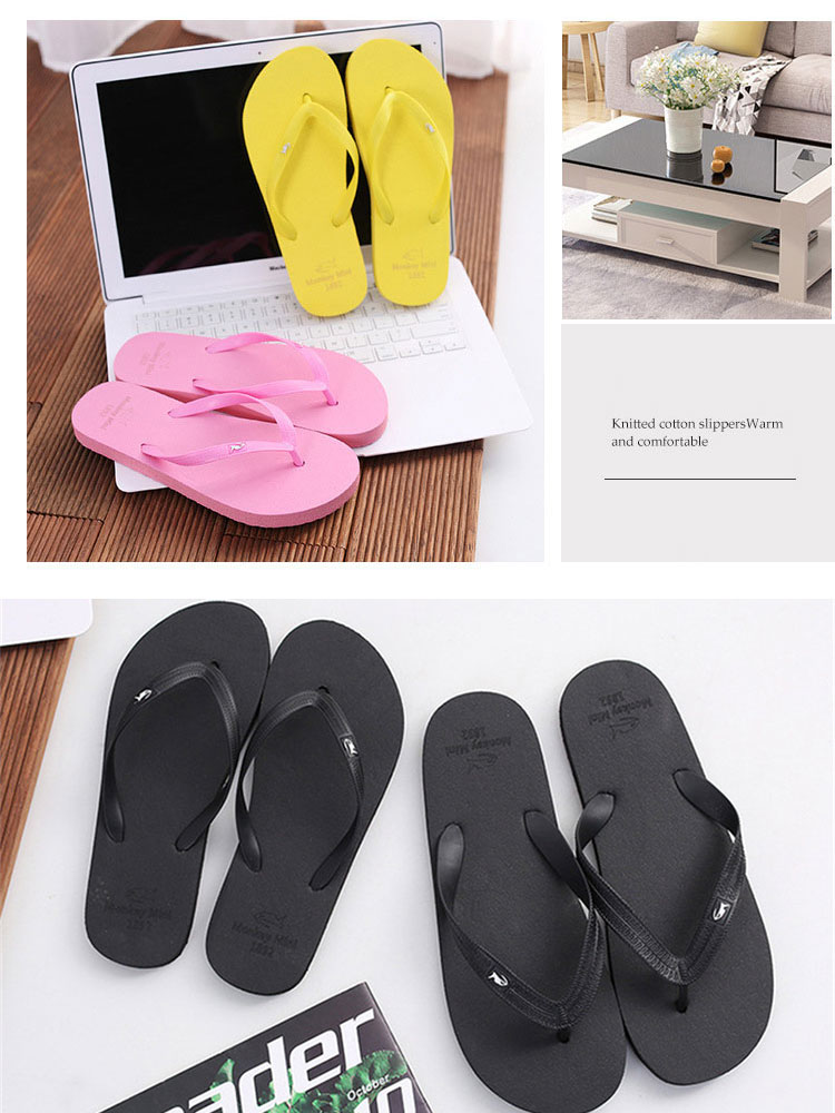 Man Slippers Flip-Flops Slides Casual Shoes Women Sandals Flats Couple Beach Indoor Lovers