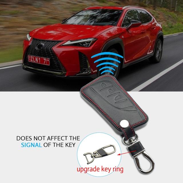 Étui de protection en cuir pour clé de voiture | Pour Lexus UX200 UX250h ES200 ES300h ES350 US200 US260h 2018 2019, sac à télécommande pour porte-clés