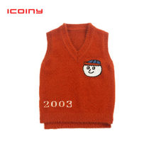 Boys vest spring and autumn 2019 new 1 2 3 4 years children knitted vest thick spring Girls woolen waistcoat(China)