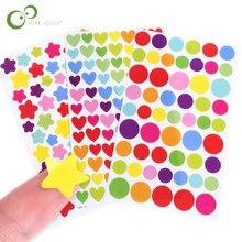 18 folhas estrela coração ponto adesivos diy decalques adesivo para notebook álbuns scrapbook decorativo portátil clássico brinquedos para crianças gyh