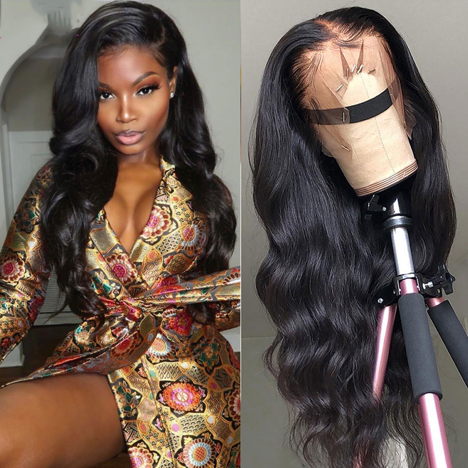 Full Lace Fake Scalp Wigs Brazilian Body Wave Full Lace Human Hair Wig For Black Women Pre Plucked Hairline Soft Hair Free Part
