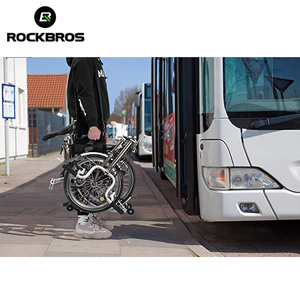 Image 5 - ROCKBROS Folding Cycling Bike Frame Carry Shoulder Strap Bike Bicycle Carrier Handle Hand Grips For Brompton Bicycle Accessories