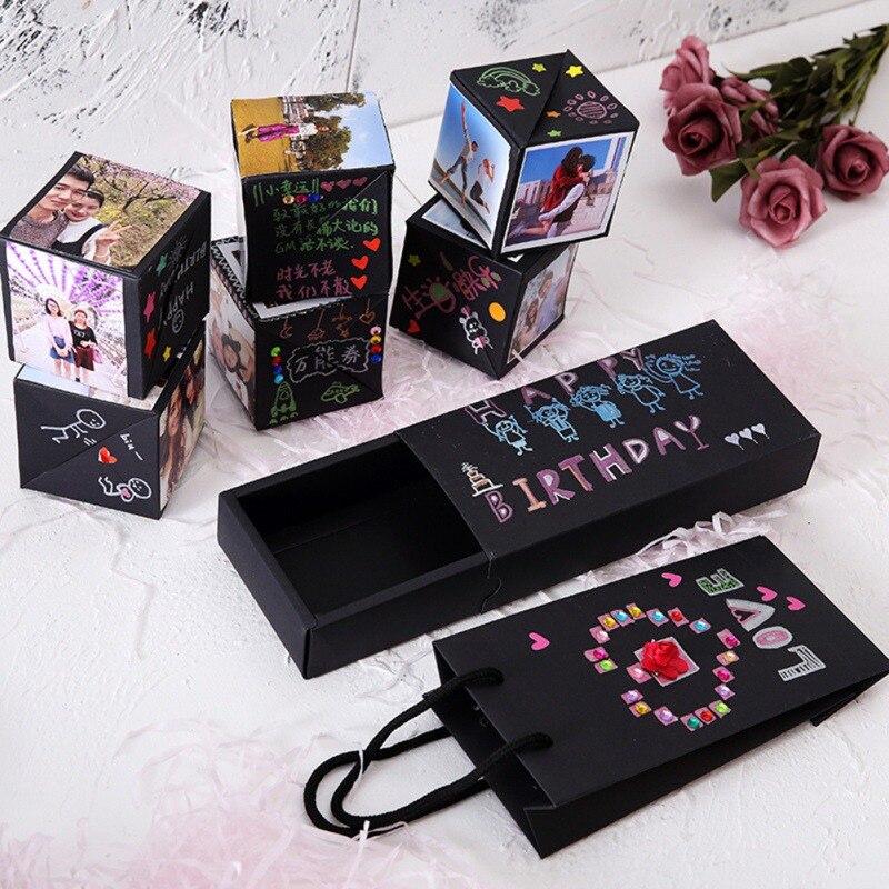 Bricolage Surprise amour Explosion boîte cadeau Explosion pour anniversaire Scrapbook bricolage Photo Album anniversaire saint valentin cadeau H03