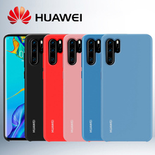 Huawei P30 Pro Case Original Official Liquid silicone Microfiber Insided Shockproof Protection back Cover Lite