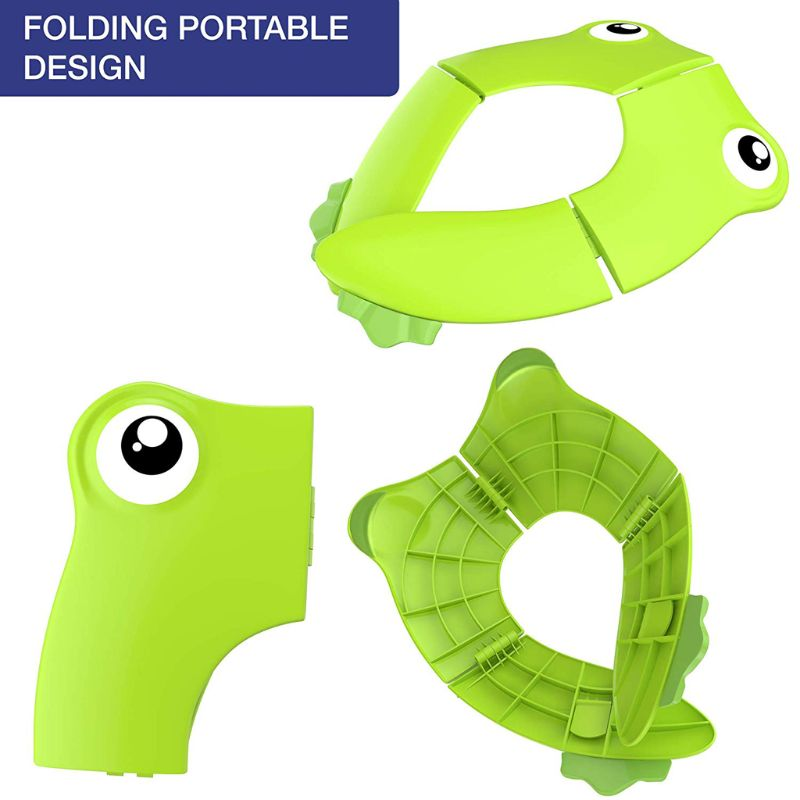Foldable Potty Toilet Training Seat Portable Travel Toddler Toilet Seat with Carry Bag Prevent Germs Spread | Happy Baby Mama