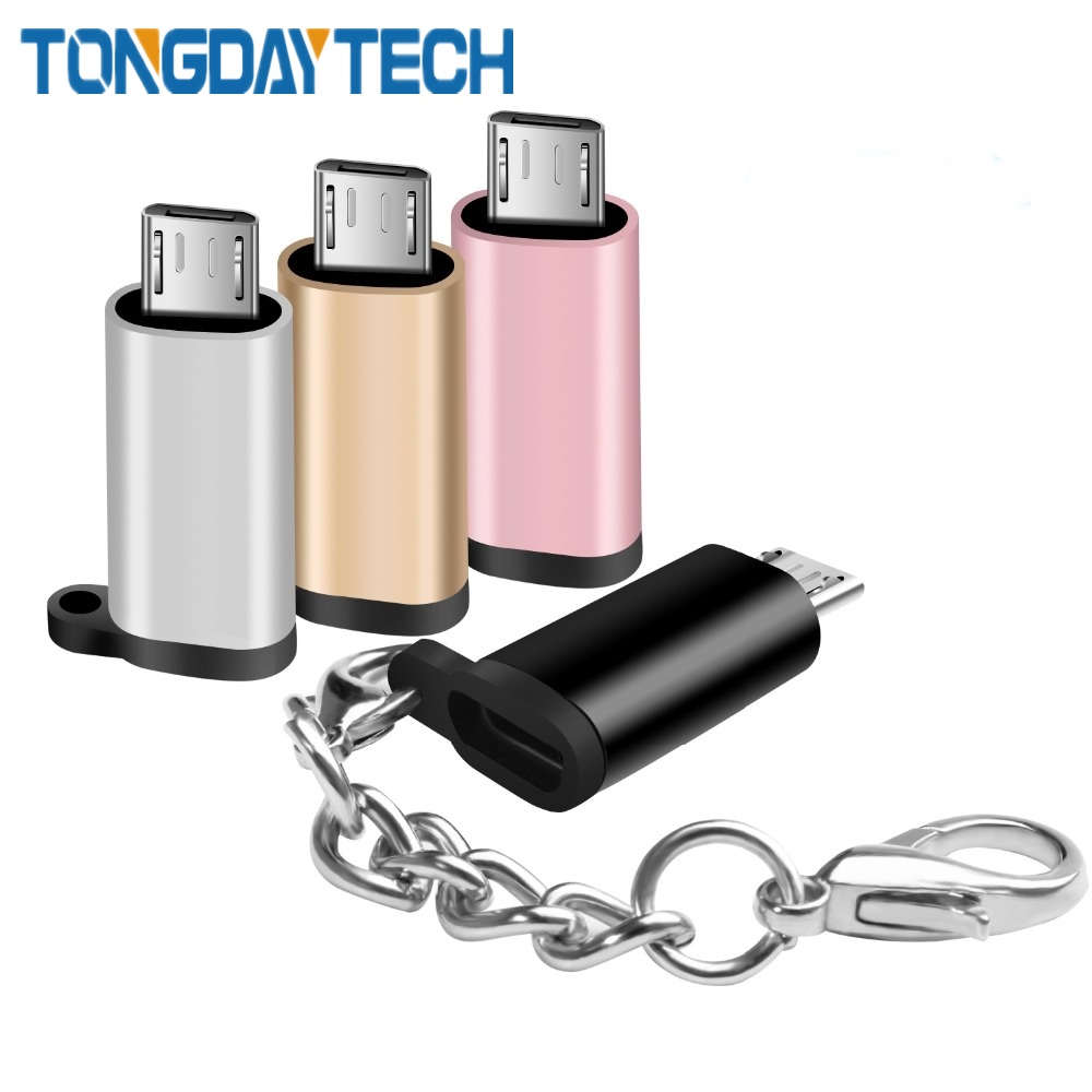 Tongdaytech Micro USB Adapter Micro USB Male To Type C Female Charge Adapter Data Sync Converter For Android Phone Tablets