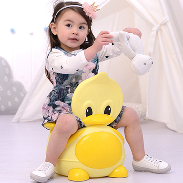 Children Seat Cushion Pedestal Pan Men And Women Baby Large Size Little Duck Chamber Pot Infants Small Chamber Pot Anti-slip Uri