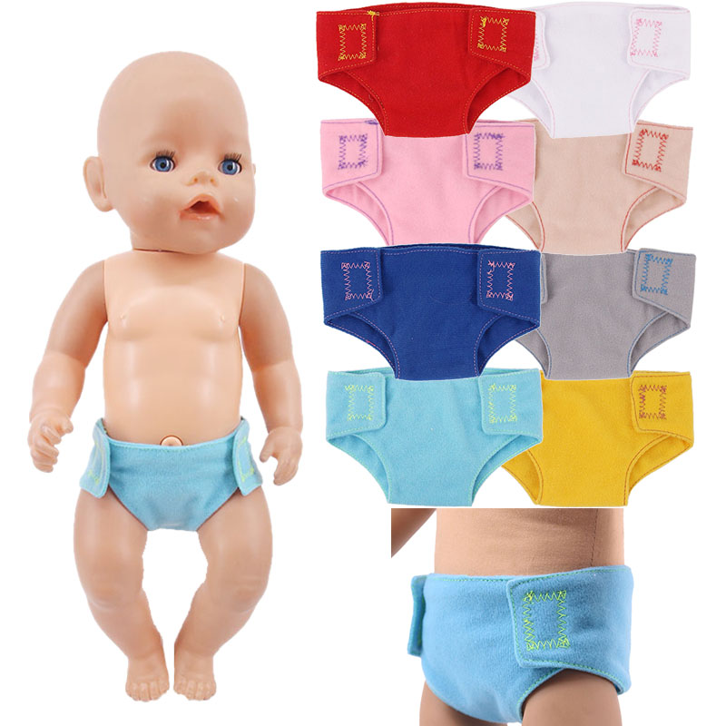 Plush Suede Underwear Panties Doll Clothes Fit 18 Inch American&43 CM Born Baby Doll,Girl's Toys,Our Generation,Gift