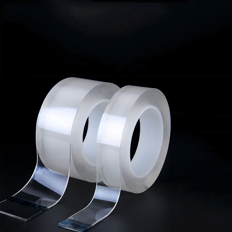 Washed Reusable Transparent  Double Sided Tape Super Strong Adhesion Household Wall Hangings Adhesive Glue 5M Nano Magic Tapes