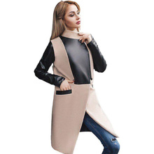 Women Long Coat Plus Size Tweed Autumn Winter Patchwork Cotton Mandarin Collar Wool Coat Parka Windbreaker Warm Cape New Fashion цена