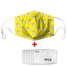 7Pcs PM2.5 Filter Gas Masks Carbon Insert Women Men Anti-dust Washable Mask Reusable Face Non-disposable Moth