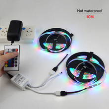LED Light With Bar Waterproof 3528RGB Color 5m / 10m 24 Key Infrared Controller TV Background